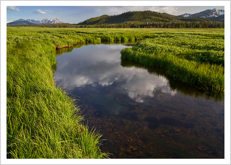 Marsh Creek and the Sawtooths