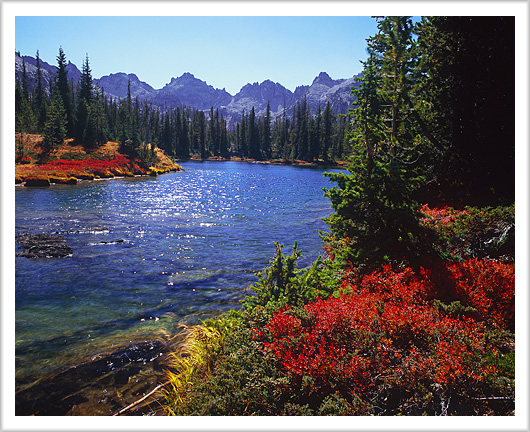 Fall colors at Alice Lake, Sawtooth Mountains - October 2012