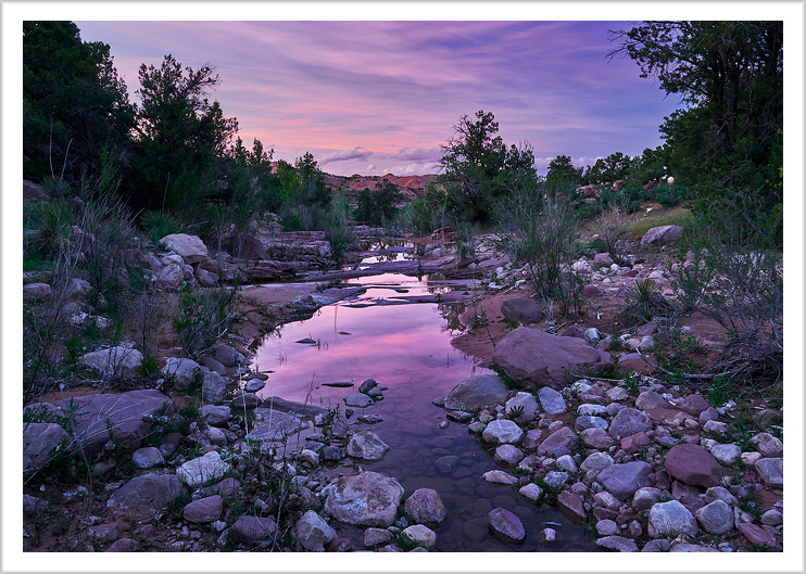 Sunset on Small Desert Stream
