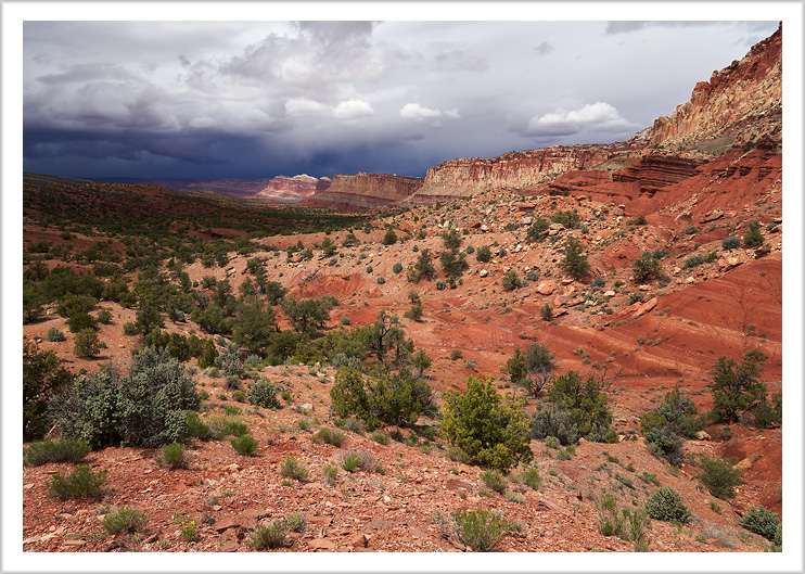 Stormy sky above Capitol Reef