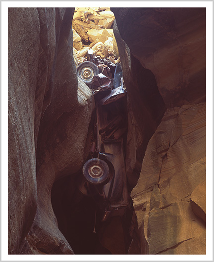 Truck Wreck in Slot Canyon